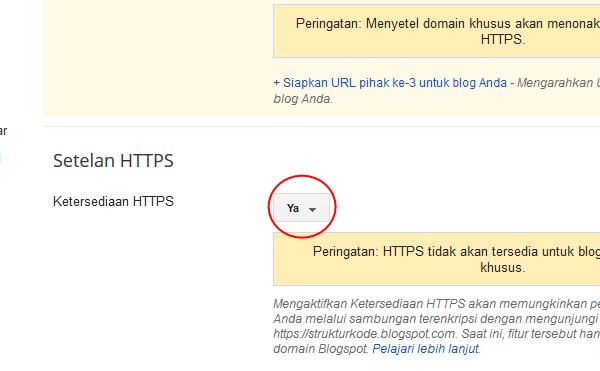 PENTINGNYA FITUR HTTPS PADA BLOGSPOT