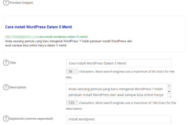 Cara Install dan Setting Plugin Wordpress All in One SEO Pack