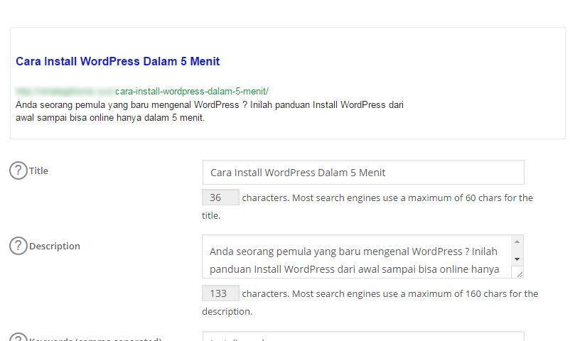 Cara Install dan Setting Plugin Wordpress All in One SEO Pack